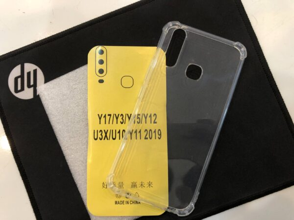 vivo y 17 transparent back Cover